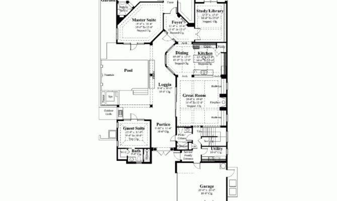 Eplans Mediterranean House Plan Courtyard Luxury Square Feet