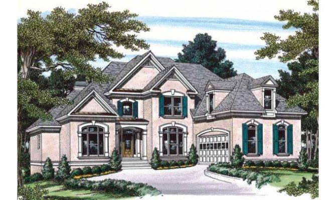 Eplans New American House Plan Stucco Stunner Square Feet
