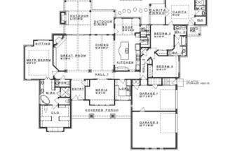 Eplans Prairie House Plan Hill Country Fusion Ranch Style