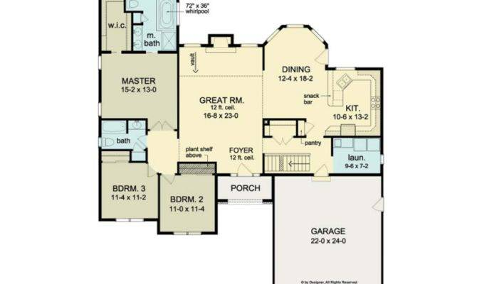 Eplans Ranch House Plan Master Suite Whirlpool Square