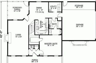 Eplans Southern House Plan Three Bedroom Square Feet