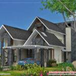 European Style Home Sloping Roof Square