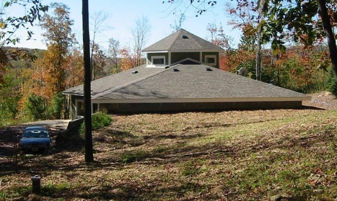 Exterior Earth Berm Passive Solar Home