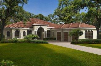 Exterior One Story Home Mediterranean Style