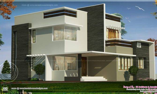Feet Box Type Exterior Home Kerala Design Floor Plans
