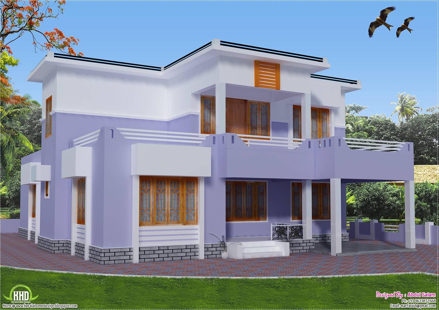 Flat roof house plans design sea