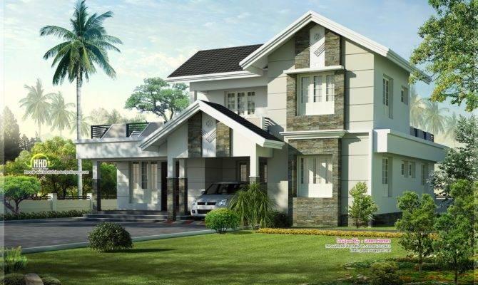 Feet Nice Home Exterior Design Kerala Plans