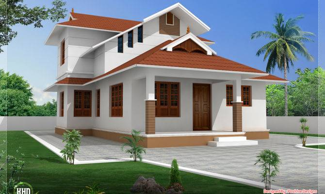 Feet Sloping Roof Villa Design Kerala Home Floor Plans
