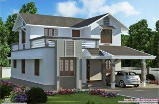 Feet Storey Villa Plan Kerala Home Design Floor Plans