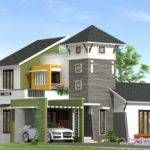 Feet Villa Elevation Kerala Home Design Floor Plans