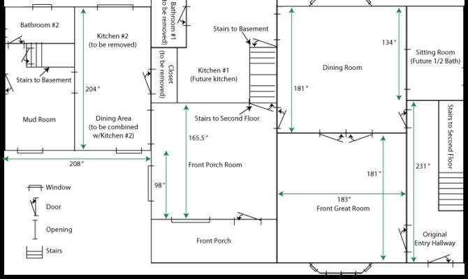 First Floor Plan Measurements