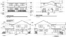 First Floor Plan Second Elevations Back Top