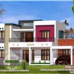 Flat Roof Contemporary Floor Plans Kerala Home Design