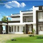 Flat Roof House Exterior Home Kerala Plans
