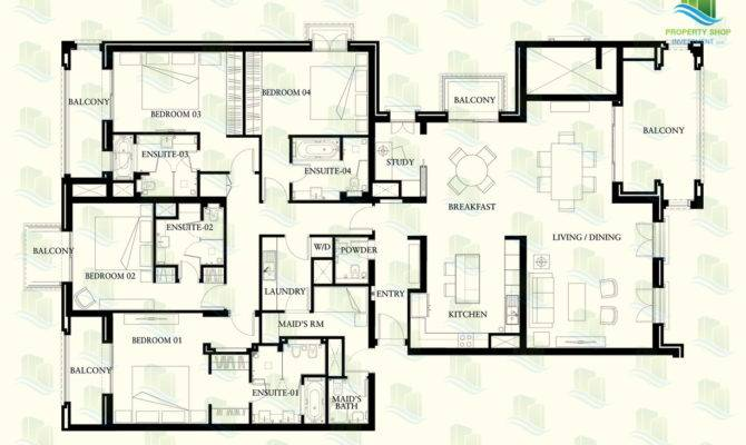 Floor Plan Bedroom Apartment Regis Saadiyat