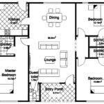 Floor Plan Bedroom Detached Bungalow Home