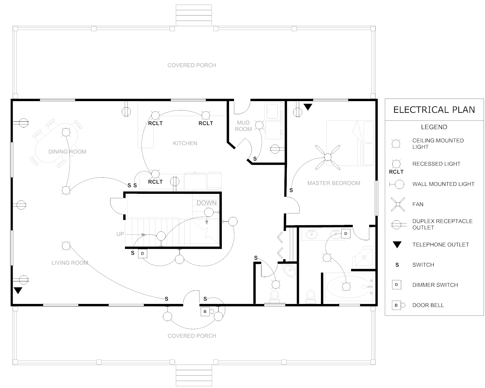 floor plan example electrical house  home building plans, wiring diagram