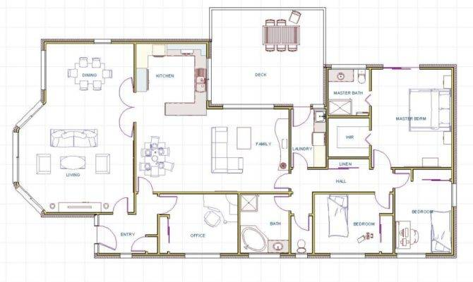 Floor Plans Beach House Contemporary