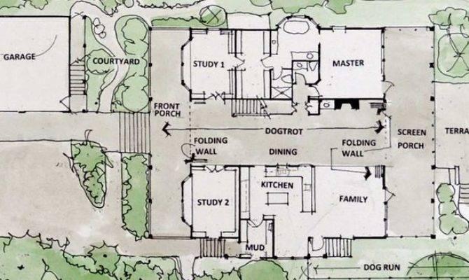 Floor Plans Dog Trot Housesgame Rooms Dogtrot House