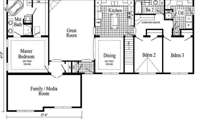 Floor Plans Ranch Homes House
