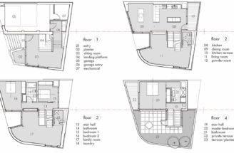 Floor Plans Terrace Split Level House Philadelphia Design