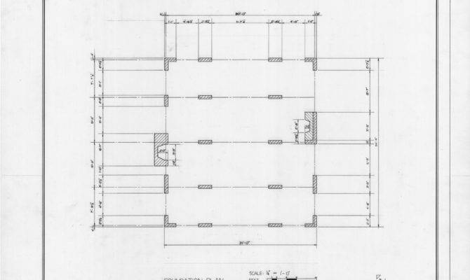 Foundation Plan Mace House Beaufort North Carolina