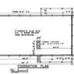 Foundation Plan Ranch House