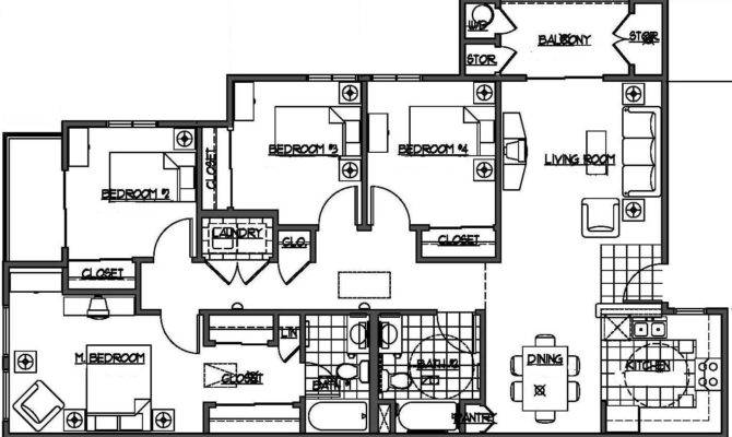 Four Bedroom Floor Plans Designs Floorplans