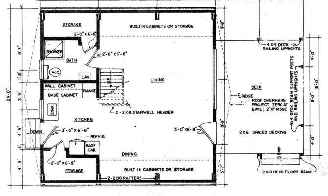 Frame Floor Plan Cabin