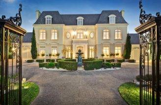 French Chateau Style Homes Gated Mansion