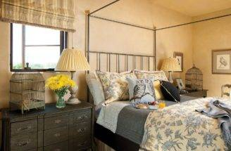 French Country Bedroom Bird Theme Hgtv