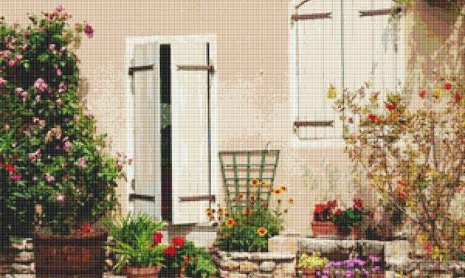 French Country Garden Cross Stitch Pattern Storenvy