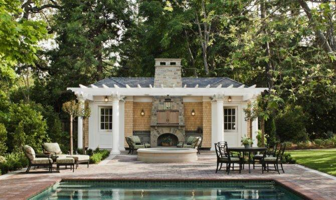 French Country Style Kitchen House Victorian Pool