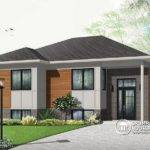 Front Base Model Affordable Split Modern Bungalow House Plan