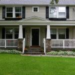 Front Porch Stone Pillars Archadeck Outdoor Living