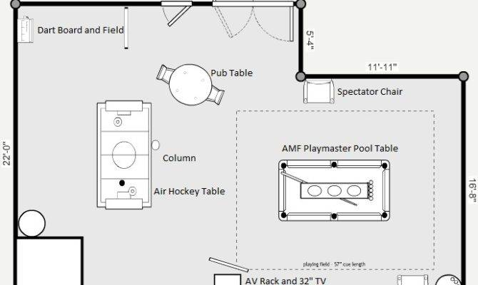 Game Room Floor Plan