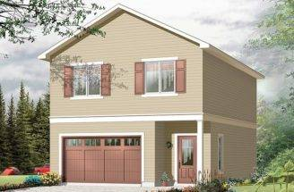 Garage Apartment Plans Carriage House Plan Single Car