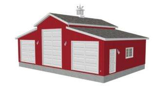 Garage Barn Plans Wood Carport Pole House Design