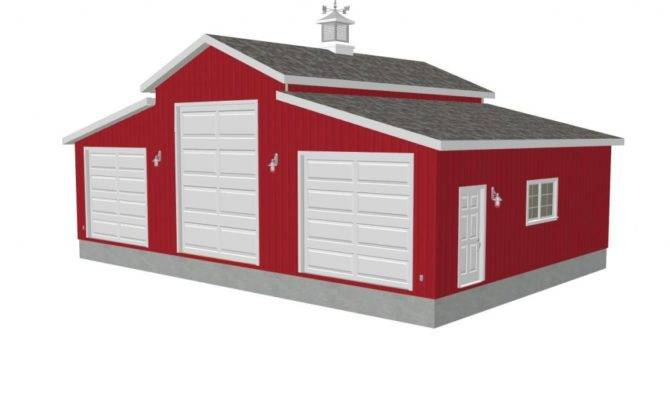 Garage Barn Plans Wood Carport Pole House Design