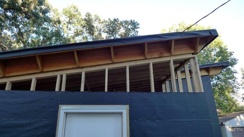 Garage Build Modern Shed Roof Rain Screen Siding Home