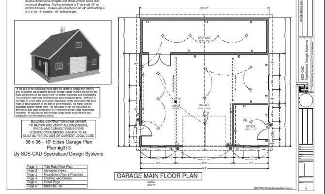 Garage Foundation Plans