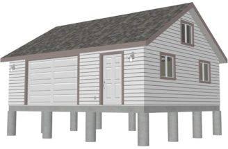 Garage Plans Gambrel Barn House Diagnosticate