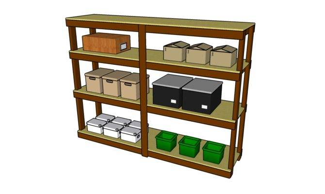 Garage Shelving Plans Outdoor Plant Stand Build Storage