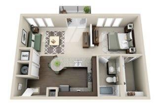 Gateway West Apartment Floor Plan