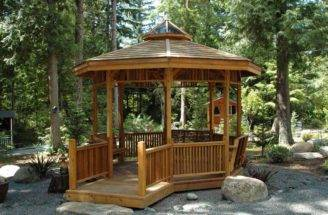 Gazebo Plans Firepit Fireplace