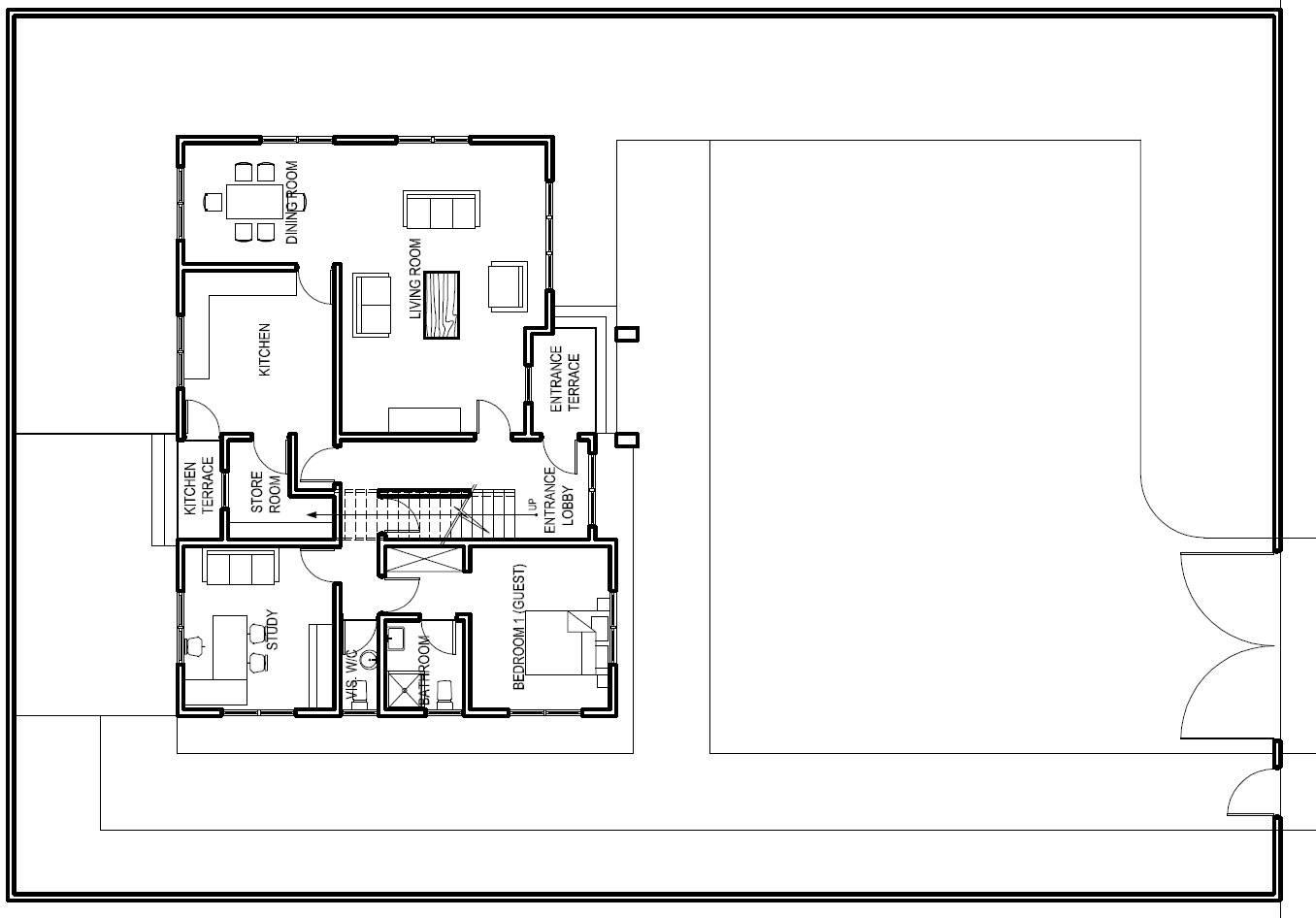 Ground Floor Home – Modern House