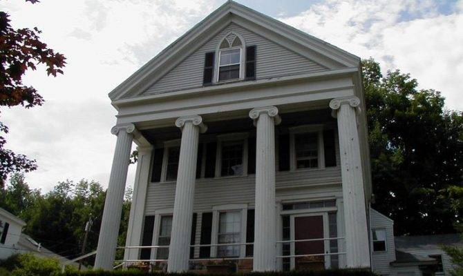 Greek Revival House Beautiful Pinterest