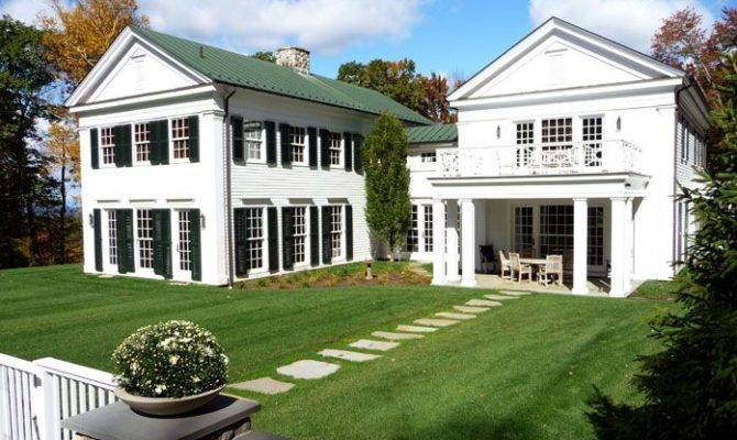 Greek Revival House Millbrook Landscaping Pinterest