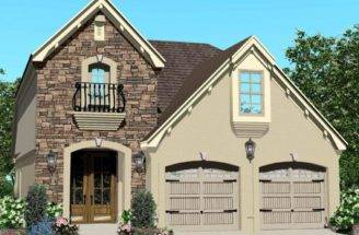 Half Story French Country House Plan Bedrooms