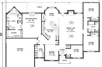 Hannegan Crest Tudor Ranch Home Plan House Plans More